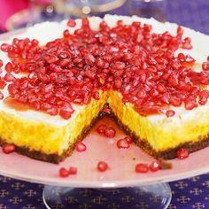 Bild på Saffranscheesecake med pepparkaksbotten