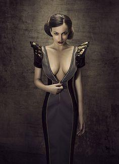 The Look: geometric dress Fashion Gallery, Fashion Art, Editorial Fashion, Fashion Models, Geometric Dress, Fashion Photography Inspiration, Photo Retouching, Dark Beauty, Women's Beauty