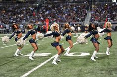 St. Louis Rams cheerleaders perform during an NFL football game against the Seattle Seahawks on September 30, 2012 in St. Louis. The Rams won the game 19-13. (AP Photo/G. Newman Lowrance)