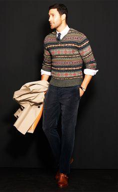 #Fall - Fair isle sweater. Polo by Ralph Lauren x