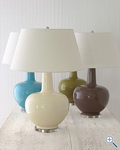 I love lamps, and these have such a cute shape