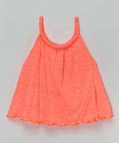 Another great find on #zulily! Coral Braid Yoke Swing Top - Girls by InGear #zulilyfinds