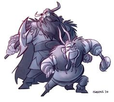 Stoick and Gobber ^.^ ♡ I give good credit to whoever made this