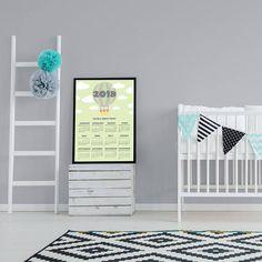 Boy Room Calendar Nursery Calendar 2018 Calendar Hot Air