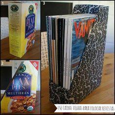 Simple magazine organizer