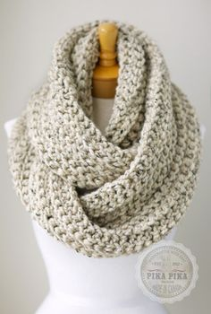This is the oversized version of my eternity or infinity scarf with the added ribbed style. The color is Oatmeal Brown color with aran flecks, made from 80% Acrylic and 20% wool.   I made the scarf with the infinity loop style without the seams using super chunky yarns. I also added the ribbed style to add extra textures and depth.  It is machine washable and dryable at 40 degree Celsius. It will hug your neck softly, super bulky, comfy and warm. The extra texturing and layering gives will…