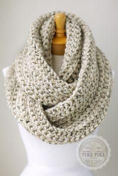 Oversized knit scarf