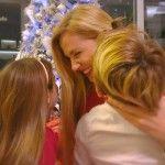 Federica Panicucci, Natale da single con i figli tra abbracci risate e baci