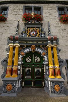 Main gate of the City Hall, Hann. Münden, Germany
