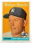 1958 Topps Baseball Card #150 MICKEY MANTLE New York Yankees Outfield TRIMMED