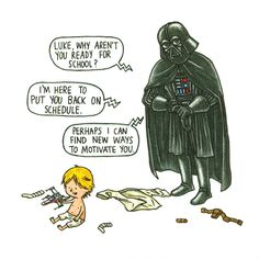 Darth Vader and Son totally me ps forgot who  drew this but I twos ant me