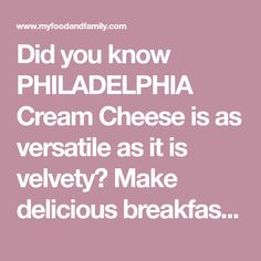 Did you know PHILADELPHIA Cream Cheese is as versatile as it is velvety? Make delicious breakfasts, winning dips, knockout dinners and delectable desserts with our favorite Philly recipes. Creamed Corn Recipes, Cream Cheese Recipes, Cream Corn Recipe Crock Pot, Philly Food, Layered Desserts, Cookbook Recipes, I Foods, Crockpot Recipes, Philadelphia