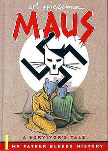 Maus-- is a graphic novel by American cartoonist Art Spiegelman, serialized from 1980 to 1991. It depicts Spiegelman interviewing his father about his experiences as a Polish Jew and Holocaust survivor. The work employs postmodern techniques and represents Jews as mice and other Germans and Poles as cats and pigs. Critics have classified Maus as memoir, biography, history, fiction, autobiography, or a mix of genres. In 1992 it became the first graphic novel to win a Pulitzer Prize.