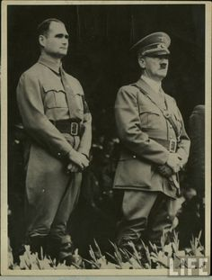 You can just smell the crazy on these 2, Adolf Hitler with Rudolf Hess