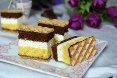 Prajitura duo cu branza si foi de napolitane | Miremirc Dessert Recipes, Desserts, Tiramisu, Cheesecake, Sweets, Ethnic Recipes, Food, Xmas, Recipes