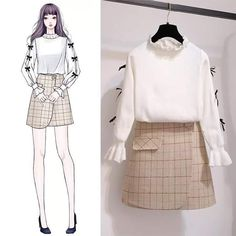 to the owner Korea Fashion, Asian Fashion, Look Fashion, Girl Fashion, Fashion Dresses, Korean Outfits, Trendy Outfits, Cute Outfits, Dress Sketches
