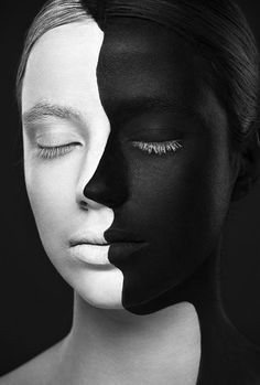 Black And White Faces - 4