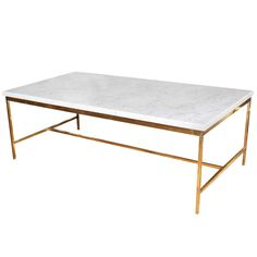 Paul McCobb Brass And Marble Table For Directional, Circa 1955