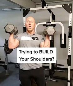 Are you trying to build your shoulders? Make this variation to your overhead presses. Dumbbell Workout At Home, Gym Workout Tips, Biceps Workout, Workout Exercises, At Home Workouts, Chest Workout Routine, Best Chest Workout, Chest Workouts, Shoulder Exercises