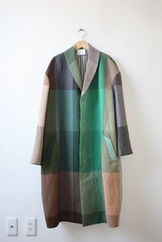 coat-love this style, love this plaid Yohji Yamamoto, Fashion Mode, Cute Fashion, Womens Fashion, Mode Style, Style Me, Vogue, Mode Inspiration, My Wardrobe