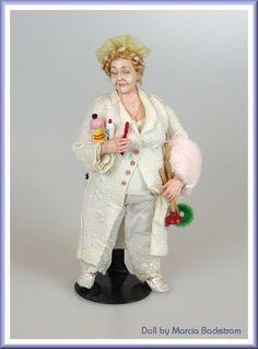 Marcia Backstrom, IGMA fellow Dollhouse Dolls, Miniature Dolls, Dollhouse Miniatures, Ooak Dolls, Barbie Dolls, Art Dolls, Nursery Toys, Scale Art, Old Folks