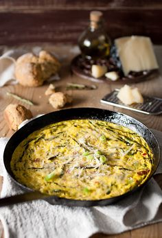 Sweet Sensation:  Wild Asparagus and Goat's Cheese Fritata