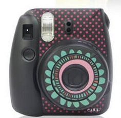 Amazon.com: Fujifilm Instax Mini 8 Colorful DIY Sticker Protection Skin Black - Sunflower: Arts, Crafts & Sewing