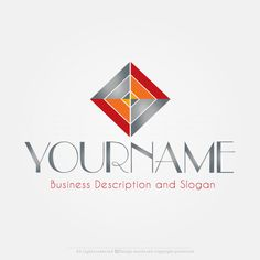 create this abstract diamond logo design online with our free logo maker