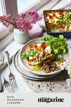 This delicious lasagne is super rich with a creamy ricotta sauce. To make this recipe vegetarian, simply leave out the Parma ham, or fry it separately until crisp for the meat-eaters to put on top. It serves 8, making it perfect for a dinner party or feeding a hungry crowd. Get the Sainsbury's magazine recipe Yummy Pasta Recipes, Vegetarian Recipes, Lasagne Recipes, Cooking For A Crowd, Easy Family Meals, Food Trends, Soup And Salad, Pasta Dishes, Italian Recipes