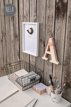 Aranżacja z kalendarzem w stylu skandynawskim