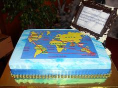 World map cake src celebration cakes pinterest map cake cake map of the world annes travels cake gumiabroncs Gallery