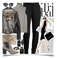 """""""Walk like a Tiger"""" by st-rose93 ❤ liked on Polyvore featuring Burberry, The Row, Gucci, Rebecca Minkoff, Hervé Léger, Witchery, Chanel and Yves Saint Laurent"""