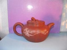 Antique Chinese YiXing Redware Stoneware Teapot Calligraphy in Antiques, Asian/ Oriental Antiques, Chinese, Porcelain | eBay
