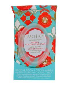 Pacifica Lotion Wipes Indian Coconut Nectar