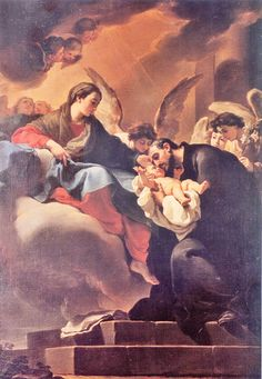catholicsoul:  On Christmas Eve at the Church of Saint Mary Major St. Cajetan was greeted with his first vision of Our Blessed mother. When ...