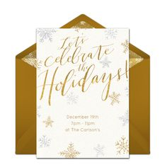 Free Christmas party invitation with a gorgeous silver & gold foil design. Love this design for a fancy holiday dinner or cocktail party. Free Invitation Cards, Christmas Party Invitations, Online Invitations, Gold Invitations, Invites, Christmas Party Themes, Xmas Party, Holiday Parties, Holiday Dinner