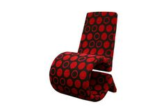 Forte Red and Black Patterned Fabric Accent Chair | Interior Express