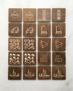 Memotest de madera Calendar, Holiday Decor, Ideas, Home Decor, Music Pictures, Wooden Blocks, Decoration Home, Room Decor, Life Planner