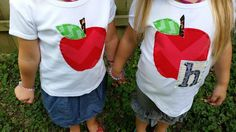 Check out this item in my Etsy shop https://www.etsy.com/listing/197977963/back-to-school-boy-or-girl-apple-shirt