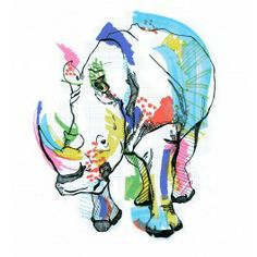 """""""Rhino"""" by Casey Rodgers £55"""