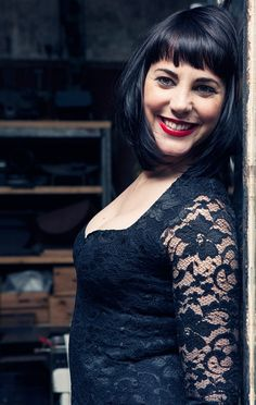 Black lace in profile.    Dress: ASOS,   Photographer: Carla Coulson, Model: Miss Pirisi, Location: Paris atelier 6eme