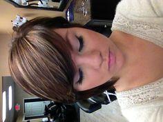 Dark brown with blonde highlights