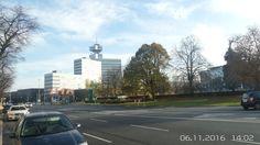 Charlottenburg, Theodor-Heuss Platz, im Hintergrund RBB Fernsehzentrum