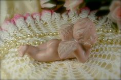Adorable Little Pink Vintage Porcelain Cherub by TinyandBeautiful