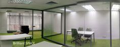 Glass System Wall 新蒲崗勤達中心 (1框雙清玻璃屏風) 1