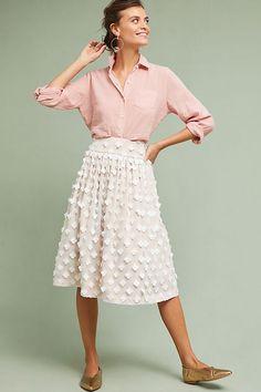 Slide View: 3: Textured Tulle Skirt