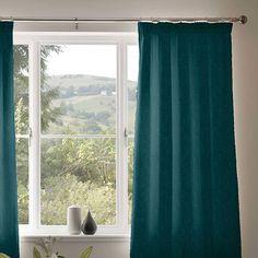 Curtain details for CALVARI, 01 PETROL   Next Made To Measure