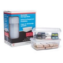"""Iris® Stackable Storage Boxes 14 boxes for $12 8.75"""" x 13.56"""" x 4.25"""""""
