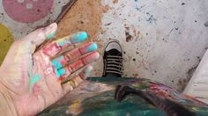 Oops one made a slight mess again...! Doh. #paint #splash #art