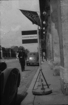 """""""Kommandant in Groß-Paris""""- Schild in Paris im Jahre 1940"""